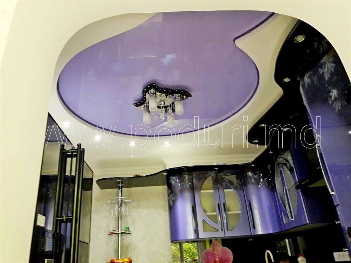 Двухуровневый овальный натяжной потолок