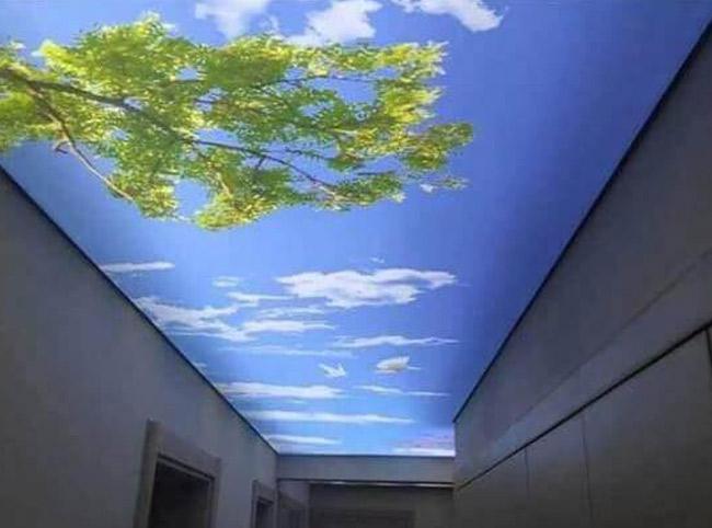 Освещение натяжного потолка спотами