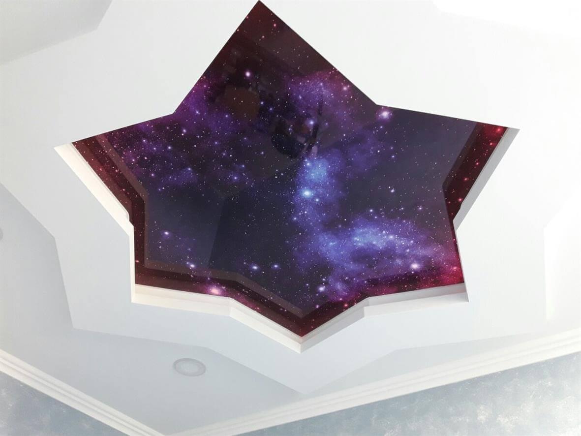 Натяжной потолок Звездное небо динамический
