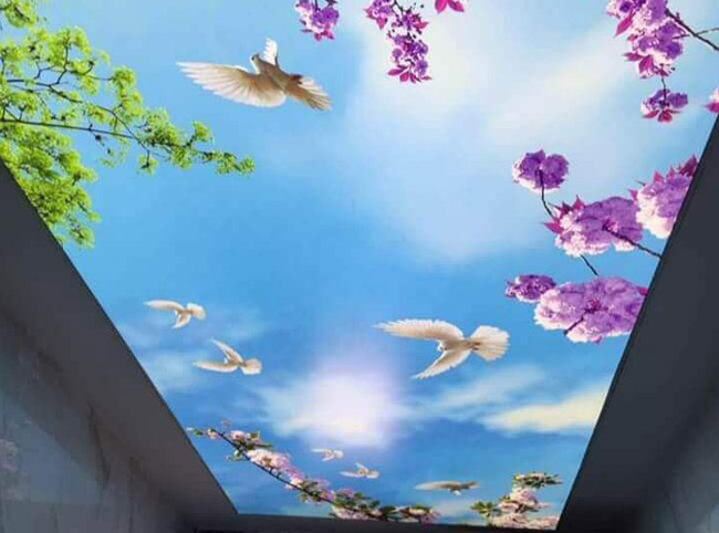 Натяжной потолок с освещением изнутри