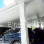 Матовый натяжной потолок в гараже, Кишинев