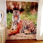 Натяжная стена с фото тигра