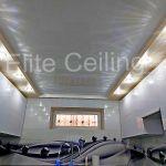 Потолок в кухне с подсветкой
